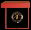 London Coins : A169 : Lot 781 : Hong Kong $1000 1986 Year of the Tiger KM#54 Gold Proof FDC in the red case of issue with certificat...