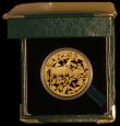 London Coins : A169 : Lot 811 : South Africa Natura Coinage 1997 One Ounce of .999 Gold, Obverse: Buffalo's Head, Reverse: Buff...