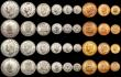 London Coins : A169 : Lot 816 : South Africa Proof Sets (4) 1952 Crown to Farthing KM#PS25 (9 coins) (3 sets), 1953 Crown to Farthin...
