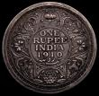 London Coins : A169 : Lot 978 : India One Rupee 1910 Edward VII Pattern in silver KM#Pn99, S&W.7.12, Pridmore 1049, weight 11.59...