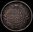 London Coins : A169 : Lot 979 : India Rupee 1938 Bombay, with dot, KM#555 Fine and toned, scarce