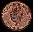 London Coins : A169 : Lot 986 : Ireland Farthing 1806 S.6622 UNC with around 25% lustre