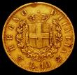 London Coins : A169 : Lot 995 : Italy 10 Lire 1863 KM#9.3 Fine, Ex-mount