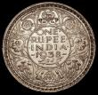 London Coins : A170 : Lot 1061 : India Rupee 1938 Bombay Mint (No dot) KM#555 Lustrous EF with a hint of golden tone on the obverse, ...