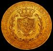 London Coins : A170 : Lot 1087 : Italian States - Sardinia 80 Lire Gold 1825 A.LAVY/L, Privy Mark Eagle's Head, Torino Mint, KM#...