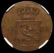 London Coins : A170 : Lot 1137 : Netherlands East Indies - Sumatra Swan Duit 1836 Copper Pattern KM#Pn20 Obverse: INDIE NEDERL, with ...