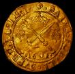 London Coins : A170 : Lot 1177 : Scotland James VI Eighth Coinage Sword and Sceptre piece 1601 S.5460 Good Fine with a very light cre...