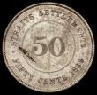 London Coins : A170 : Lot 1219 : Straits Settlements 50 Cents 1899 KM#13 Fine, the reverse with a flan flaw and some scratches, scarc...