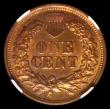London Coins : A170 : Lot 1243 : USA Cent 1867 NGC MS64 BN rare thus