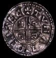 London Coins : A170 : Lot 1310 : Penny Aethelred II Crux type S.1148 Exeter Mint, moneyer Tuna, 1.49 grammes, VF with a small peck ma...