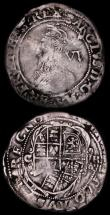 London Coins : A170 : Lot 1340 : Sixpences Charles I (2) Group D, Fourth Bust type 3a, with falling lace collar, no inner circles S.2...