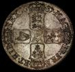 London Coins : A170 : Lot 1362 : Crown 1687 TERTIO ESC 78, Bull 743, UNC and retaining much original mint lustre, the reverse enhance...