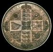 London Coins : A170 : Lot 1394 : Crown 1847 Gothic UNDECIMO ESC 288, Bull 2571 approaching UNC, with colourful toning, in an LCGS hol...