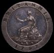 London Coins : A170 : Lot 1469 : Farthing 1797 Pattern Restrike in Silver Peck 1200 R72 Obverse: Three Berries, the lowest of which h...