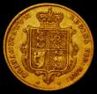 London Coins : A170 : Lot 1643 : Half Sovereign 1844 with O of VICTORIA over a higher broken O, type as Marsh 418, Good Fine