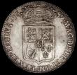 London Coins : A170 : Lot 1689 : Halfcrown 1689 First Shield, Caul only frosted, with pearls, ESC 505, Bull 831 NVF/VF the obverse wi...