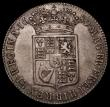 London Coins : A170 : Lot 1692 : Halfcrown 1689 Second Shield, Caul only frosted, with Pearls, ESC 510, Bull 839, VF possibly once li...