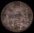 London Coins : A170 : Lot 1716 : Halfcrown 1714 Roses and Plumes ESC 585, Bull 1377 Good Fine or better with some contact marks and a...