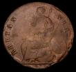 London Coins : A170 : Lot 1854 : Halfpenny 1673 Peck 510 Near Fine/VG with all major details and the date clear
