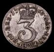 London Coins : A170 : Lot 1919 : Maundy Threepence 1763 ESC 2034, Bull 2255 EF grey toned over original lustre with some haymarking