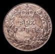 London Coins : A170 : Lot 2101 : Sixpence 1902 Matt Proof ESC 1786, Bull 3598 UNC the reverse toned, in an LCGS holder and graded LCG...