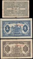 London Coins : A170 : Lot 228 : Netherlands Indies Ministry of Finance / Javasche Bank MUNTBILJET - Small Change State Notes 1919-20...