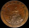 London Coins : A170 : Lot 2462 : Twopence 1797 Proof in Bronzed Copper Peck 1075 KT3 nFDC in an LCGS holder and graded LCGS 85, the o...