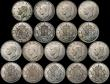 London Coins : A170 : Lot 2487 : Crowns 1937 (18) one F/GF, one NVF, the others VF to EF