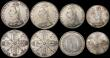 London Coins : A170 : Lot 2569 : Victoria Jubilee Head Coinage (8) Crown 1887 A/UNC and lustrous, Double Florins (5) 1887 Roman 1 A/U...