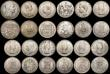 London Coins : A170 : Lot 2573 : A retired dealers ex-retail stock (24) World 19th and 20th Century Crown and Halfcrown-sized silver ...