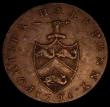 London Coins : A170 : Lot 315 : Halfpenny 18th Century Hampshire - Portsea 1794 as DH70 Coat of Arms with javelin at top pointing ju...