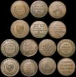 London Coins : A170 : Lot 334 : Pennies 19th Century an interesting group (15) Staffordshire (7) Bilston 1812 Samuel Fereday Withers...