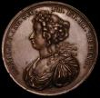 London Coins : A170 : Lot 362 : Coronation of William and Mary 1689 38mm diameter copper undated Obv. Right facing bust of William W...