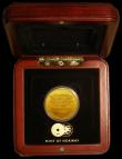 London Coins : A170 : Lot 391 : South Africa 1/2 Ounce Gold Medallion Nelson Mandela .999 Fine by The Mint of Norway in the wooden d...