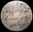 London Coins : A170 : Lot 409 : Engraved Crown William and Mary the obverse engraved :- M.Hughes Llwinglaes, the reverse engraved:- ...