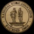 London Coins : A170 : Lot 417 : National Rifle Association Life Member's Pass (c.1900) 44mm diameter in ivory, holed at the top...