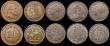 London Coins : A170 : Lot 424 : Toy Money (12, all different) Lauer types GB  (11) and a Germany 10 Mark VF to GEF
