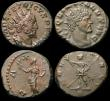 London Coins : A170 : Lot 433 : Roman Ae Antoninianii (5) Aurelian (270-275AD) Obverse: Bust right radiate and cuirassed, IMP C AVRE...
