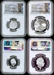 London Coins : A170 : Lot 476 : Britannia Silver Proof Set 2016 a 5-coin set Standing Britannia issues, comprising Two Pounds 2016 O...