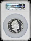 London Coins : A170 : Lot 479 : Britannia Silver Ten Pounds 2016 Standing Britannia with Lion 5oz. Silver Proof S.BG4 in a large NGC...