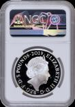 London Coins : A170 : Lot 533 : Five Pound Crown 2019 The Tower of London - The Yeoman Warders S.L75 Silver Proof in an NGC holder a...