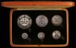 London Coins : A170 : Lot 602 : Proof Set 1927 (6 coins) Crown to Silver Threepence nFDC-FDC with toning in the official hard red bo...