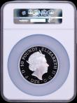 London Coins : A170 : Lot 694 : Ten Pounds 2018 Queen's Beasts - The Black Bull of Clarence 5oz. Silver Proof S.QCC4 in a large...