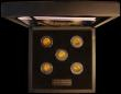 London Coins : A170 : Lot 711 : The First World War Gold Sovereign Set a 5-coin set comprising Sovereigns (5) 1914 Marsh 216 EF, 191...