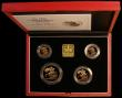 London Coins : A170 : Lot 738 : United Kingdom 1998 Gold Proof Four Coin Sovereign Collection, Gold Five Pounds, Two Pounds, Soverei...