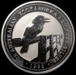London Coins : A170 : Lot 764 : Australia 30 Dollars 1998 Kookaburra One Kilo of .999 Silver KM#495 Kookaburra on fence UNC in capsu...