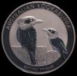 London Coins : A170 : Lot 768 : Australia 30 Dollars Kookaburra 2017P One Kilo of .999 Silver Lustrous UNC lightly toned with a few ...