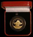 London Coins : A170 : Lot 802 : Gibraltar Fifty Pence 2019 Father Christmas Gold Proof Piedfort FDC in  the red Pobjoy Mint box of i...
