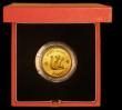 London Coins : A170 : Lot 814 : Hong Kong $1,000 1980 Monkey Gold Proof nFDC in the Royal Mint's red box with certificate