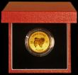 London Coins : A170 : Lot 816 : Hong Kong $1,000 1982 Dog Gold Proof nFDC in the Royal Mint's red box with certificate